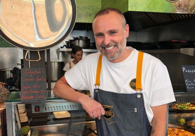 大厨罗德里格·德拉卡列,在圣米格市场的店铺
